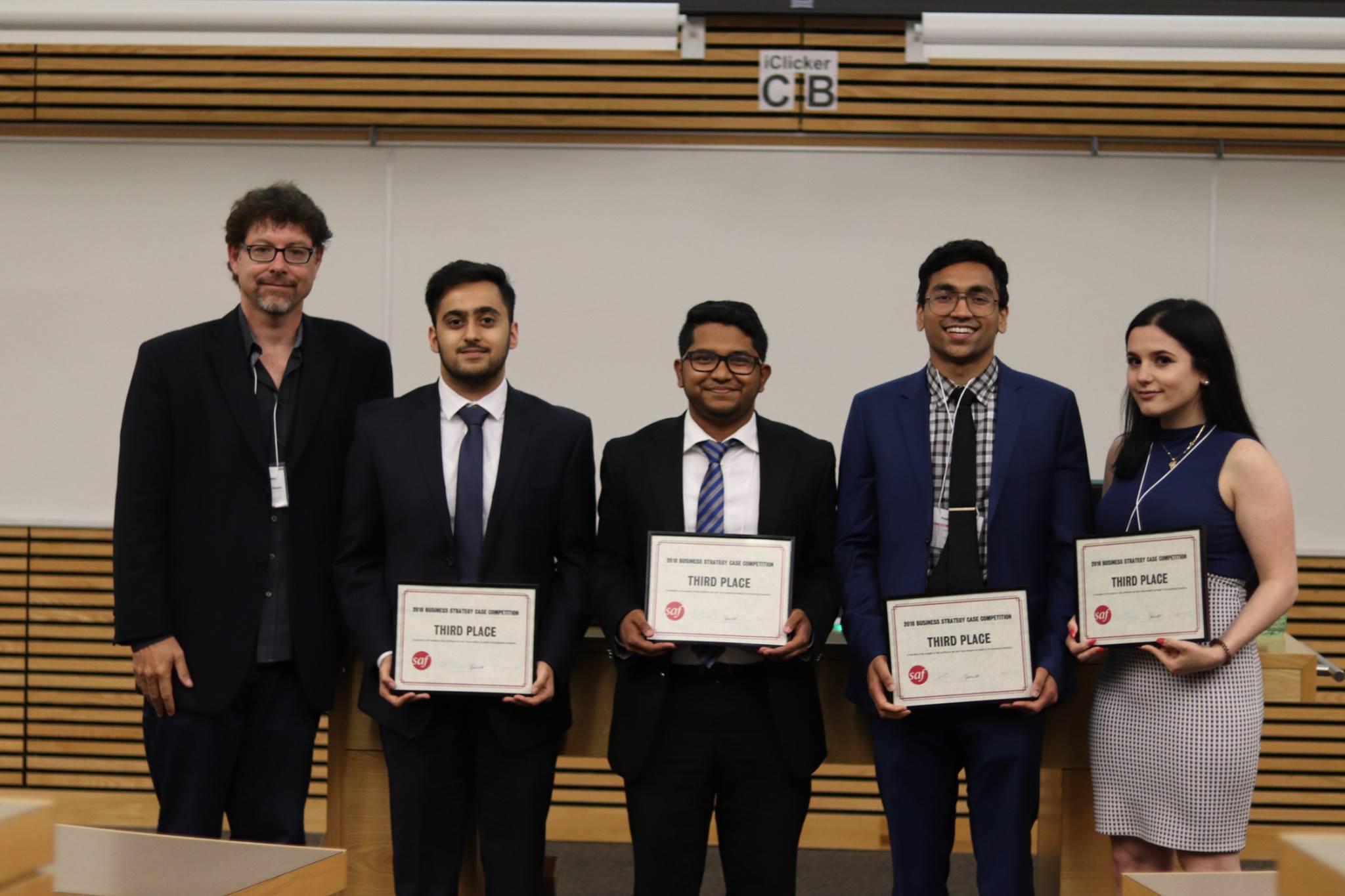 Mark Arnason, Faculty mentor, Abishek Jain, Shobith Raju, Haseen Selim, Esmat Bacha