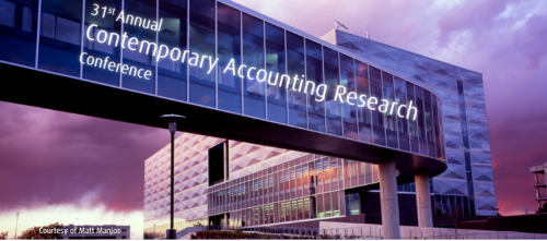 31st Contemporary Accounting Research conference.