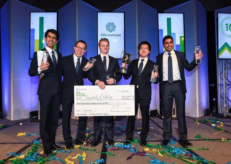 2016 CFA IRC team celebrating their Global Championship