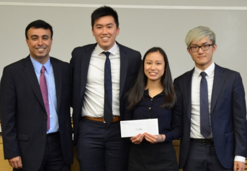 Anish Chopra, Katherine Chan (AFM 4A), Kevin Ding (CFM 2B), Billy Lam (AFM 4A
