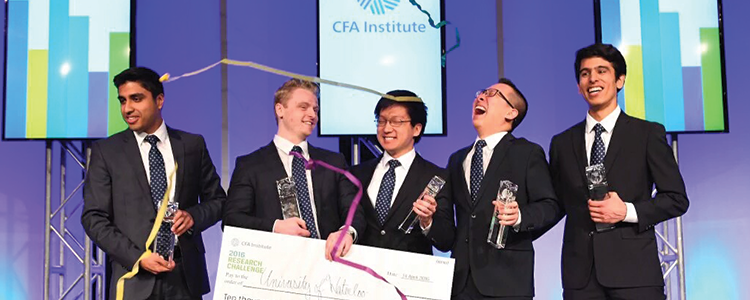 Best in the world! SAF student team captures world championship at the 2016 CFA Institute Research Challenge