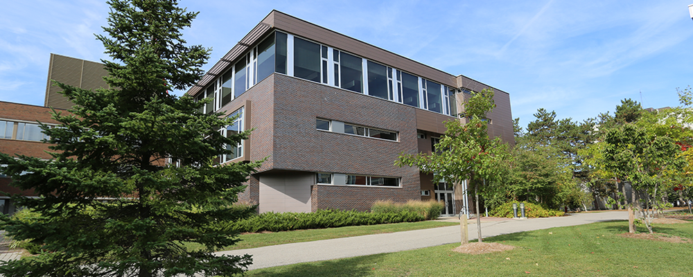 Image of the School of Accounting and Finance building in the spring
