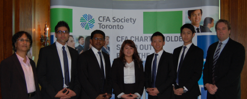 2013 CFA Research Challenge Team in Toronto for the Regional (North American) competition.