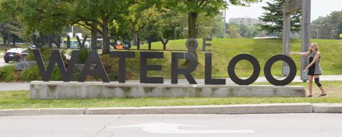kyrie with waterloo sign