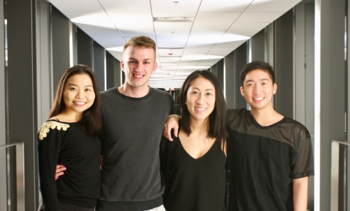 Jade Choy (AFM Class of 2017), Scott Forsyth (AHS grad student), Lisa Tran (4th year Science & Business), and Keith Choy (MAcc Class of 2016)