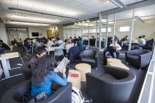 SAF students using the CPA Student Lounge for study groups, team projects, and just relaxing.