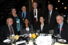Presenters at the awards dinner 2011