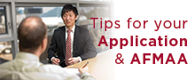 Tips for your application and the AFMAA.