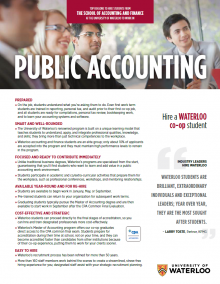 Public Accounting Employer Information Package
