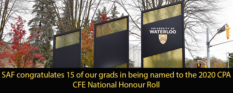 Image of UWaterloo entrance road sign