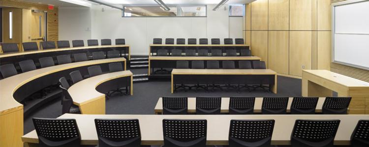 Empty class room in Hagey Hall