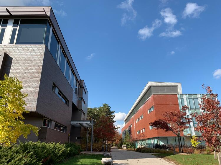 Picture of the SAF building and the Tatham Centre