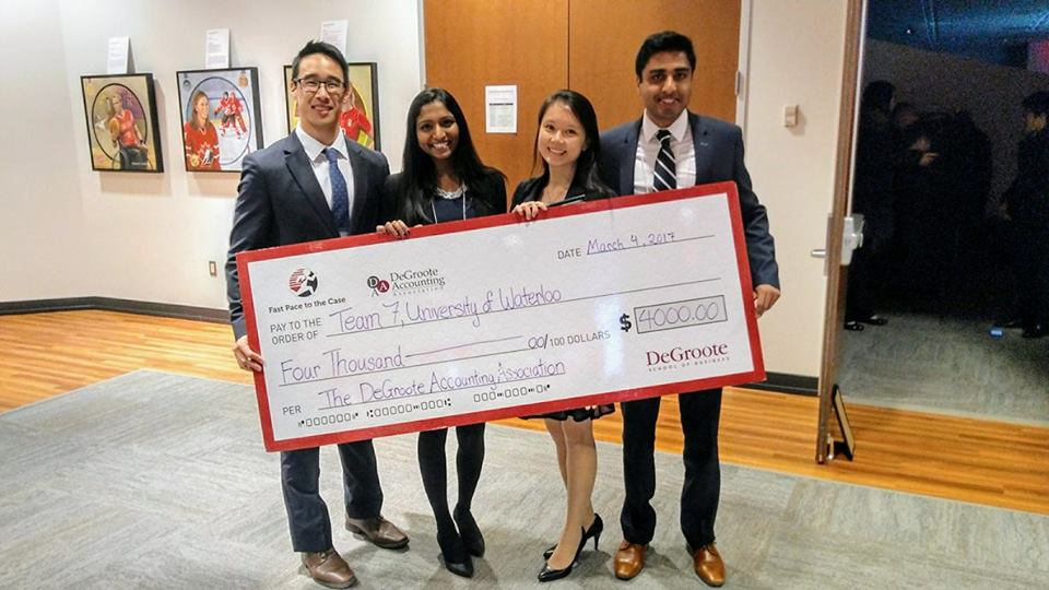 MAcc students win first place at McMaster case competiton