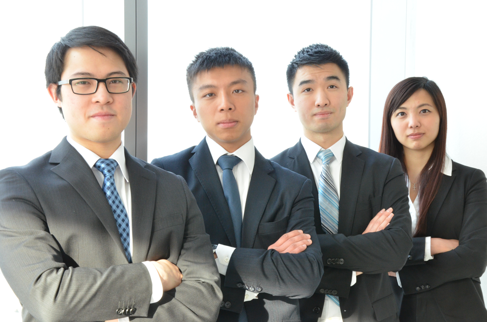 2015 CFA team: Oliver Chan, Jeffrey Wong, David Chan, June Wang