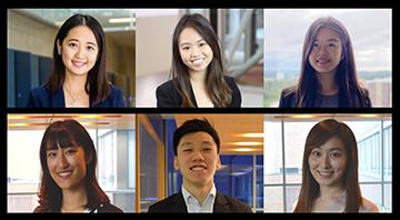 Angela Yan, Joanne Leung, Effy Gao, Pamela Zeng, Tristan Yuen, and Jenny Chen.