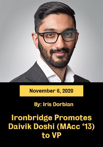 Ironbridge Promotes Daivik to VP