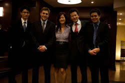 From left to right, Henry Shew, Mario Vasilescu, Cindy Chan, Ian Weng, George Tsai - Waterloo's other top 10 finalists