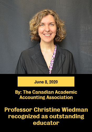 Prof Christine recognized as outstanding educator