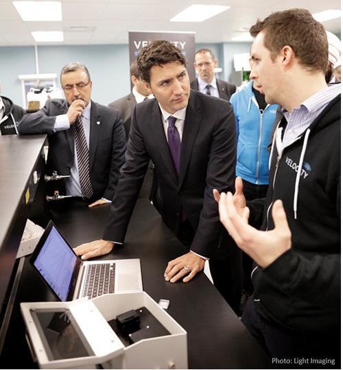 President Feridun Hamdullahpur, Prime Minister Justin Trudeau, Ryan Denomme