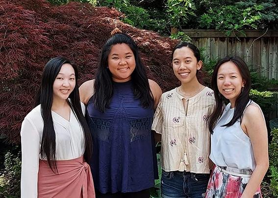 Katie M., Rebecca L., Danielle L., Evelyn K., AFM students