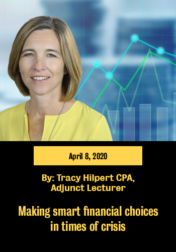 """Picture of Tracy linking to the article """"Making smart financial choices in times of crisis"""""""