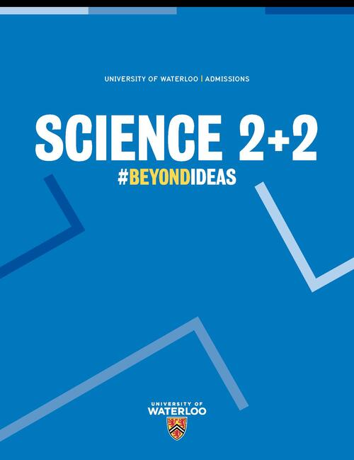 Science 2+2 text with blue background