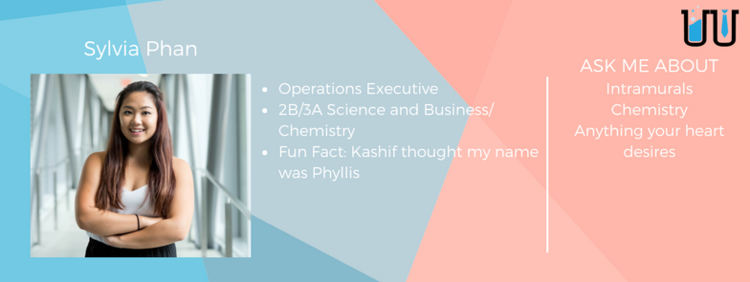 Sylvia Phan. Operations executive. 2B/3A Science and business/chemistry.