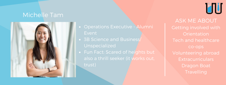 Michelle Tam. Operations executive - alumni event. 3B Science and business/unspecialized.