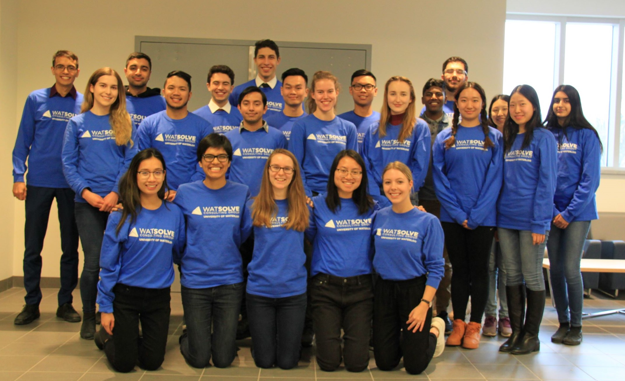 group photo of the WatSolve team