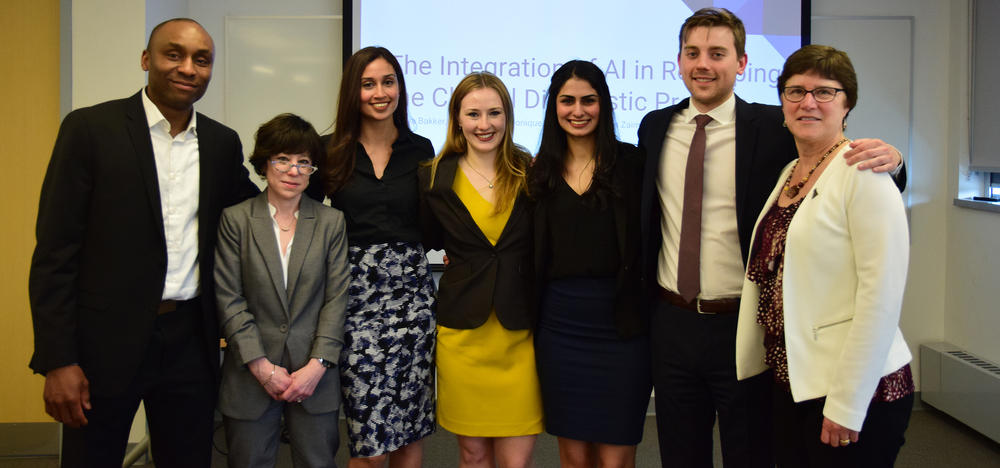 Capstone group photo with supervisors and special guest Dr. Maura Grossman