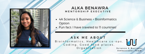 I have travelled to 11 countries! Ask me about bioinformatics, healthcare co-ops, coding, good food places, and organization.