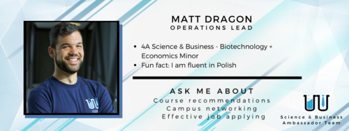 I am fluent in Polish. Ask me about course recommendations, campus networking, and effective job applying.