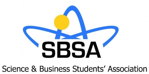 Science & Business Students' Association logo and branding.