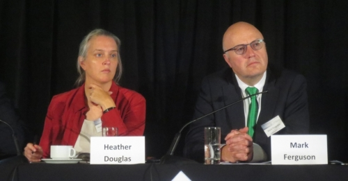 Heather Douglas at a conference