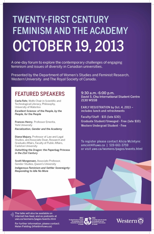 Poster for University of Western Conference - Oct. 19, 2013