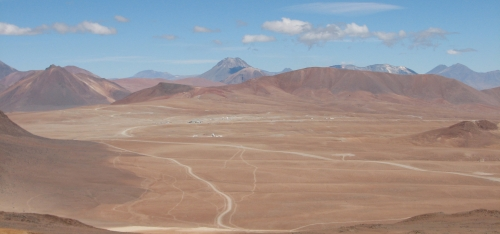 CCAT-prime will be built near the top of Cerro Chajnantor at 5600 meters elevation.