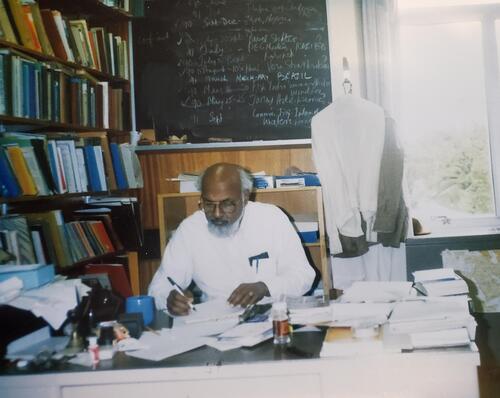 Herbert Fernando in his office at UWaterloo