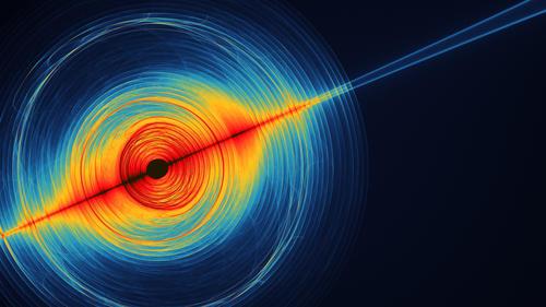 Artist rendition of gravitational waves