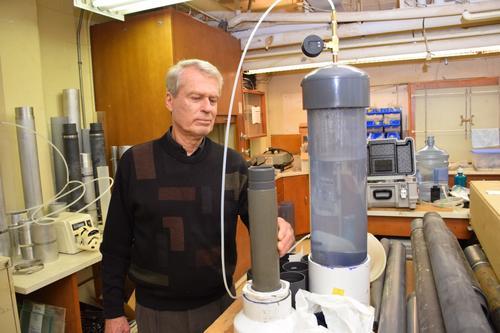 John Cherry in lab