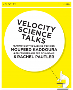 Poster of velocity science talks.