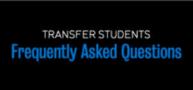 FAQ button - transfer students