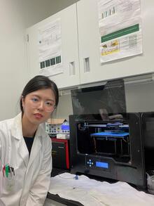 Yun Wu in the lab.