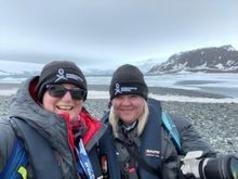 Kirsten Müller and Tammy Eger in Yankee Hrbour, South Shetland Islands