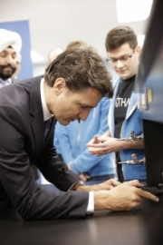 Prime Mininster Justin Trudeau and Thalo