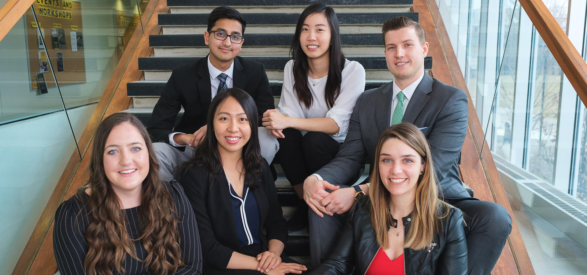 Group photo of all six 2018 co-op of the year students