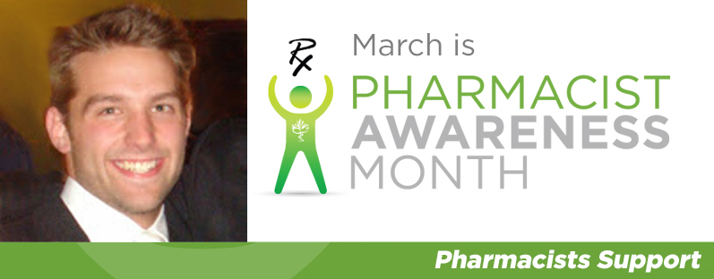Anthony Amadio smiling. March is Pharmacist Awareness Month. Pharmacists Support.