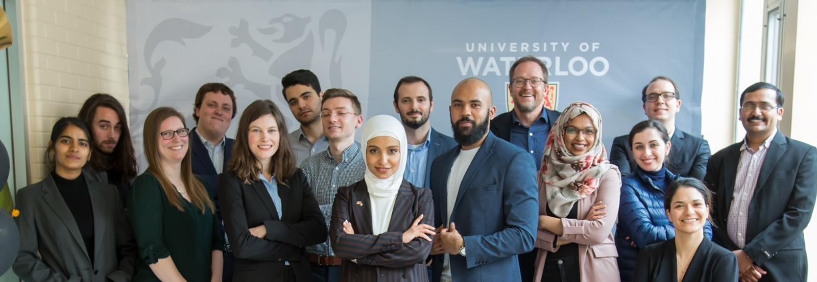 Group photo of all 2020 Waterloo 3MT competitors.