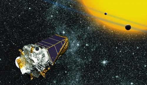 artist's depiction of the Kepler mission.