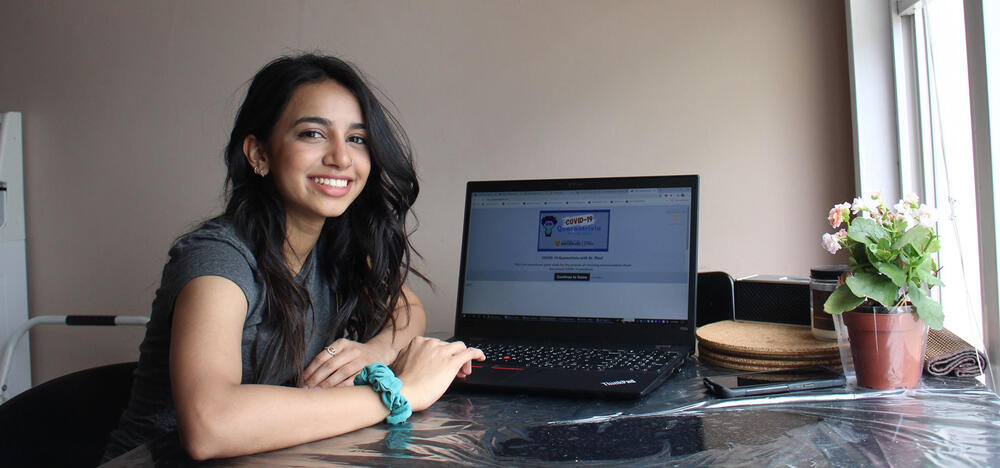 Student Ridhi Patel, developed a game to fight COVID-19 misinformation.