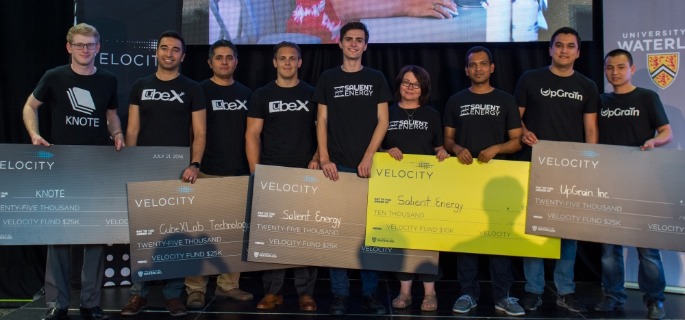 Winners from the Velocity Fund Finals Spring 2016